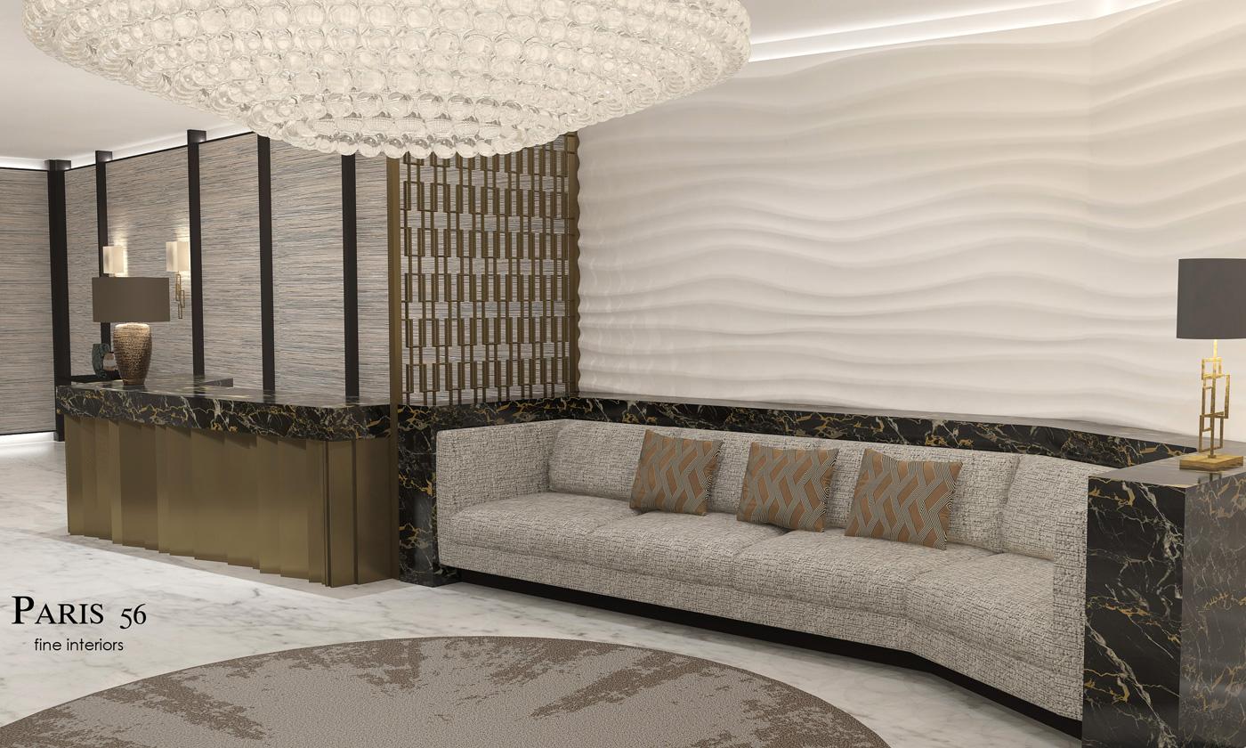 Empfangsbereich Minsk-Interior Designer